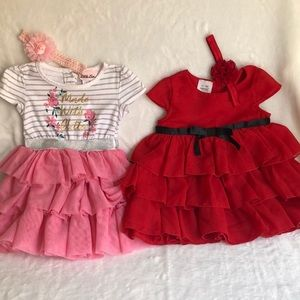 Bundle of two dresses for a baby girl 12 months